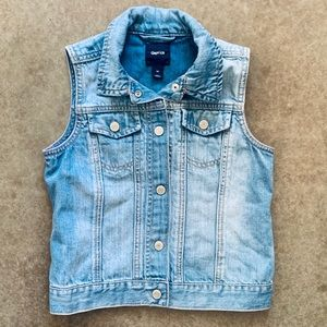 Girls Gap Denim Jean Vest Sleeveless Medium 8